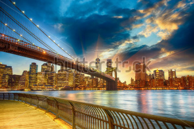 Bild Manhattan, New York City. Spectacular sunset city view.