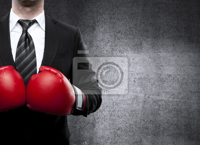 Bild Mann in Boxhandschuhe