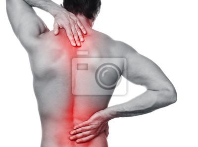 Bild Mann mit Schmerzen in den Rücken