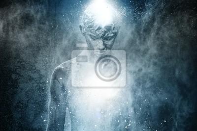 Bild Mann mit spirituellen Körper konzeptionellen Kunst