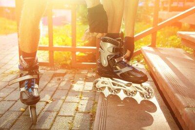 Bild Mann Rollerblade im Freien