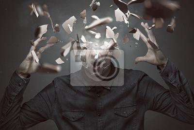 Bild Mann zerbricht sich den Kopf
