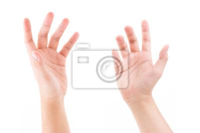 Bild Mannhand lokalisiert auf weißem Hintergrund