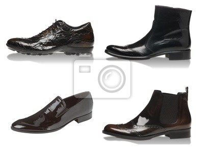 Bild Männlich Stiefel isoliert auf den weißen Hintergrund