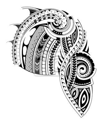 Maori Stil ärmel Tattoo Vorlage Leinwandbilder Bilder Hülse