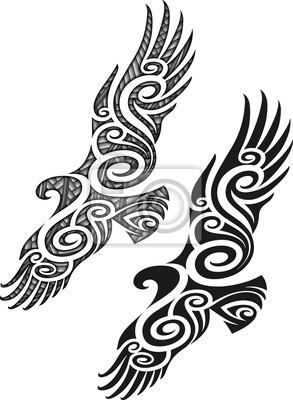 Vogel Tattoo Beeindruckender Adler Mit Farbigem 8