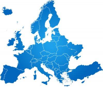 Bild map of Europe