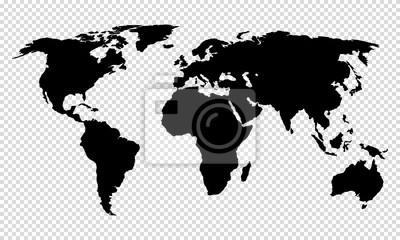Bild map of world on transparent background
