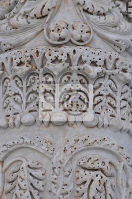 Bild Marble ornament pflanze die Säulen des Doms von Siena