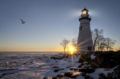Bild Marblehead Leuchtturm-Sonnenaufgang