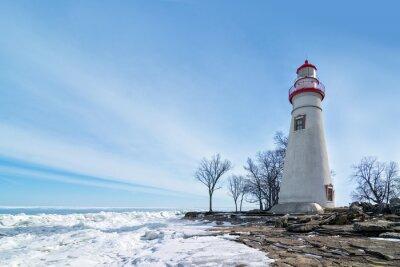 Bild Marblehead Leuchtturm-Winter-Szene