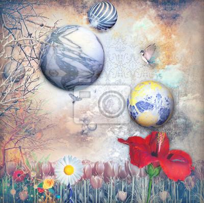 Märchen Feld mit bunten Blumen-Serie