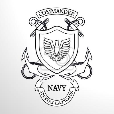 Marine-Kommandant Anchor Emblem