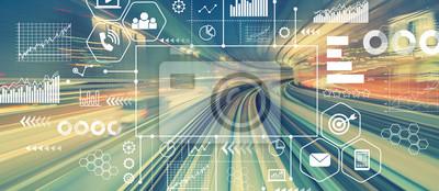 Bild Marketing-Konzept mit abstrakter Hochgeschwindigkeitstechnologie POV-Bewegung verwischte Bild