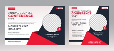 Bild Marketing Strategies live webinar banner invitation and social media post template. Business webinar invitation design. Vector EPS 10