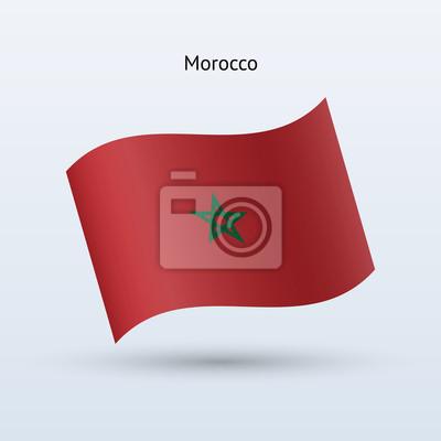 Marokko Fahnenschwingen Form. Vektor-Illustration.