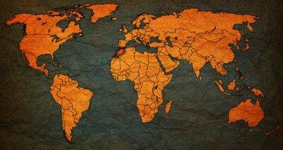 Bild Marokko-Gebiet auf Weltkarte