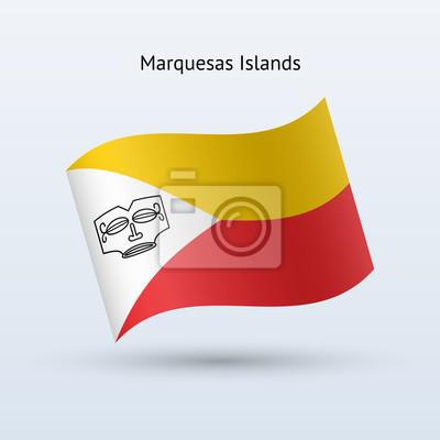 Marquesas Inseln Fahnenschwingen Form.
