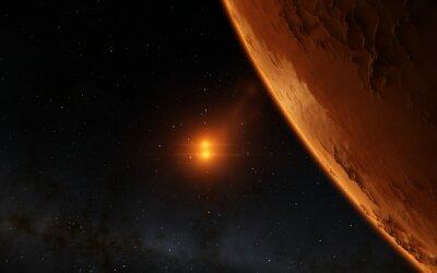 Bild Mars Scientific Illustration - Planeten-Landschaft