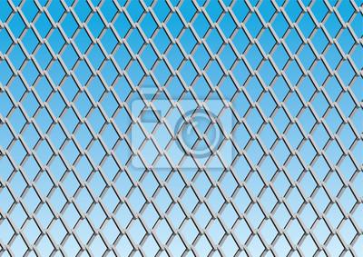 Maschendrahtzaun mit blauem Himmel Hintergrund, Vektor-