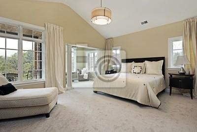Master-schlafzimmer mit sitzecke leinwandbilder • bilder ...