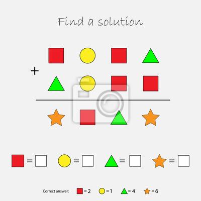 Mathematikspiel mit bildern (geometrische formen) für kinder ...
