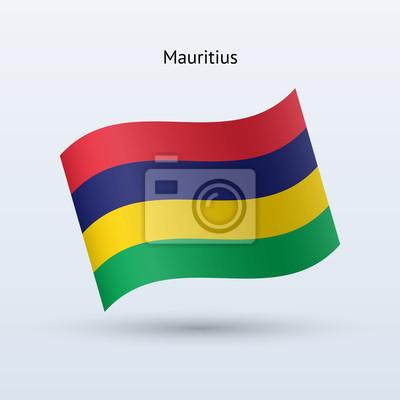 Mauritius Fahnenschwingen Form. Vektor-Illustration.