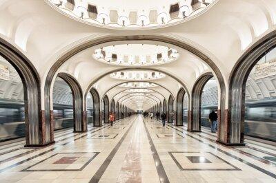 Bild Mayakovskaya Metro-Station in Moskau, Russland