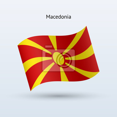 Mazedonien Fahnenschwingen Form. Vektor-Illustration.