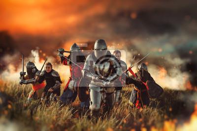 Bild Medieval knights on battle field