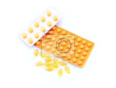 Bild Medikamente auf einem weißen isoliert