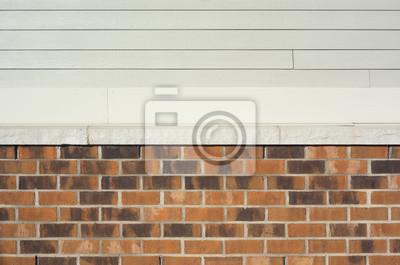 Bild Mehrere Material Wand, Ziegel Aluminium Und Vinyl, Beige Braun Und  Weiß, Hintergrund