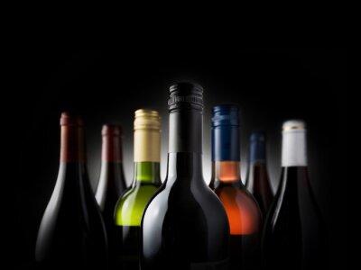 Bild Mehrflaschen schwarz - Stock Image
