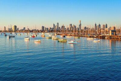 Bild Melbourne skyline from St Kilda at sunset (Victoria, Australia)