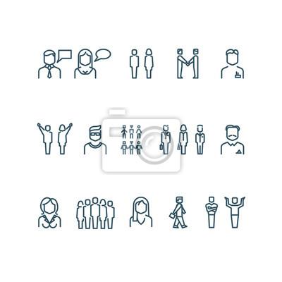 Bild Menschen skizzieren Vektor-Icons. Gliederung Person Menschen, Geschäftsleute, Geschäftsmann Manager Menschen Illustration