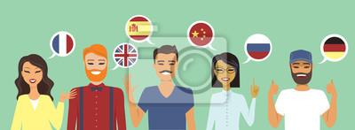 Bild Menschen sprechen verschiedene Sprachen