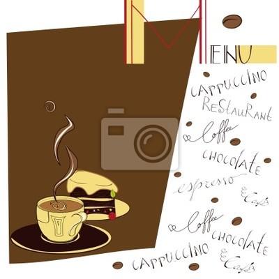 Menü für Café