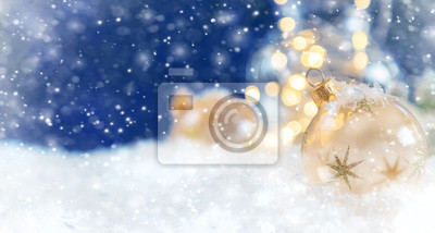 Bild Merry Christmas and Happy New Year, Holidays greeting card background. Selective focus.