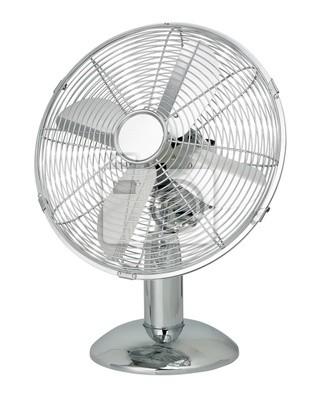 Bild Metall-Fan isoliert auf weiß