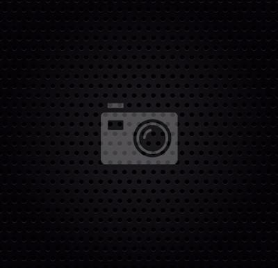 Bild Metallic schwarz perforiert Hintergrund