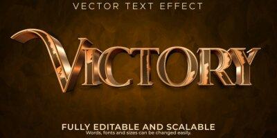 Bild Metallic victory text effect, editable elegant and shiny text style