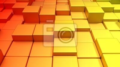 Bild Metallische Würfel Warme Farben