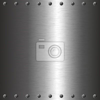 Metallplatte mit Schrauben