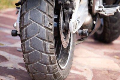 Bild Metallteile auf einem Motorrad
