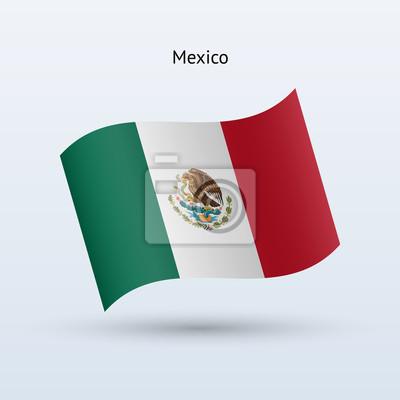 Mexiko Fahnenschwingen Form. Vektor-Illustration.