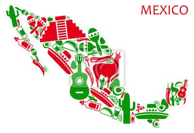 Mexiko-Karte
