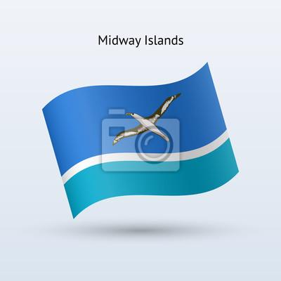 Midway Inseln Fahnenschwingen Form.