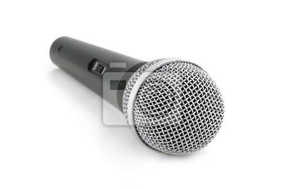 Mikrofon mit weißem Hintergrund