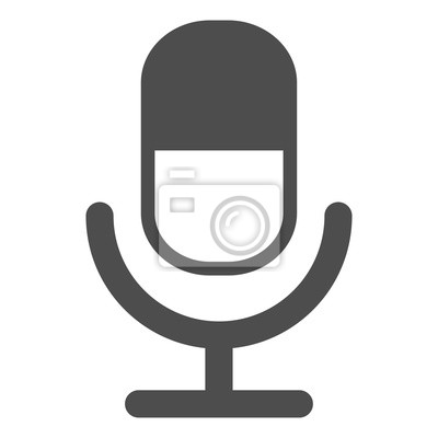 Mikrofon-symbol vektor flachen design leinwandbilder • bilder ai ...