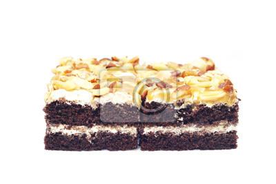 Bild Mini-Toffee-Kuchen auf weißem Hintergrund